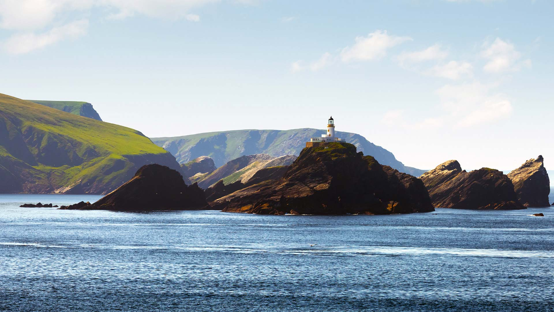 Panorama to illustrate dating in shetland islands