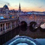 Panorama to illustrate dating in bath