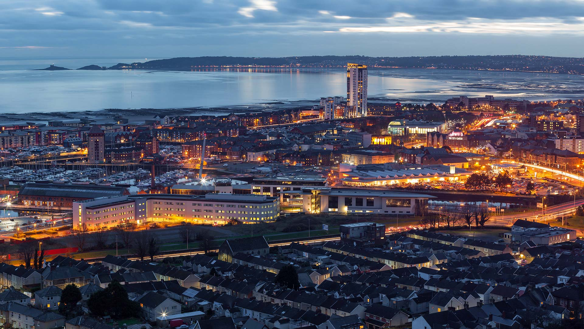 Panorama to illustrate dating in swansea