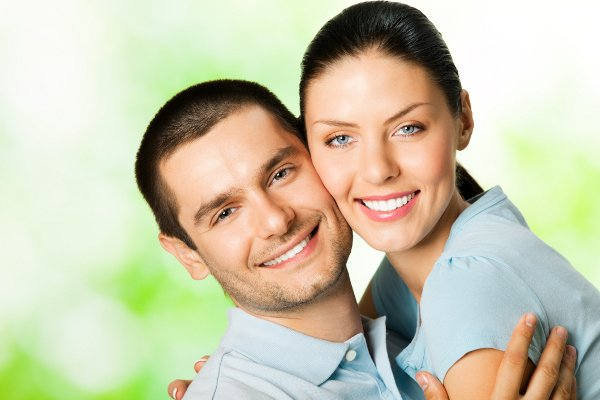 Couple in happy relationship